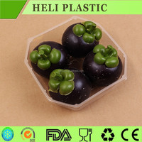 disposable plastic fresh fruit/grape/cherry container/tray