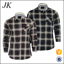Slim Fit Big Checks Round Bottom Casual Flannel Brushed Cotton Shirts