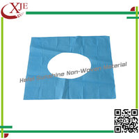 High quality safe self-adhesive hospital fabric PE toilet seat cover
