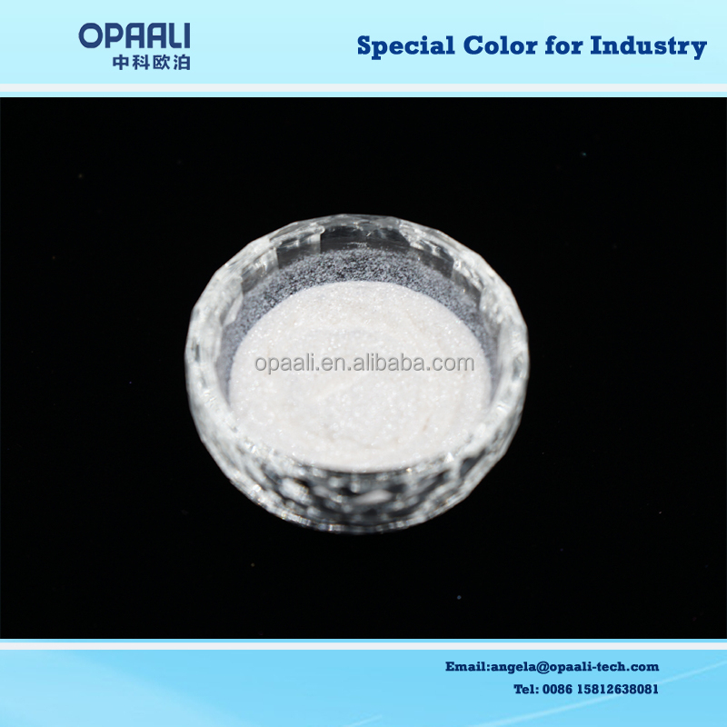 high quality crystal series 20-95um glitter silver white color synthetic mica base pearl pigment for coating