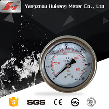 china supplier 250bar oil filled manometer with customized dial plate