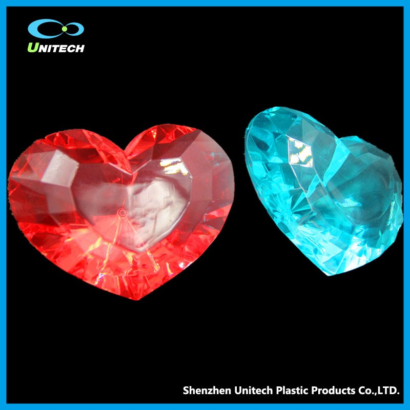 Accept Customized wholesale transparent crystal diamonds with acrylic