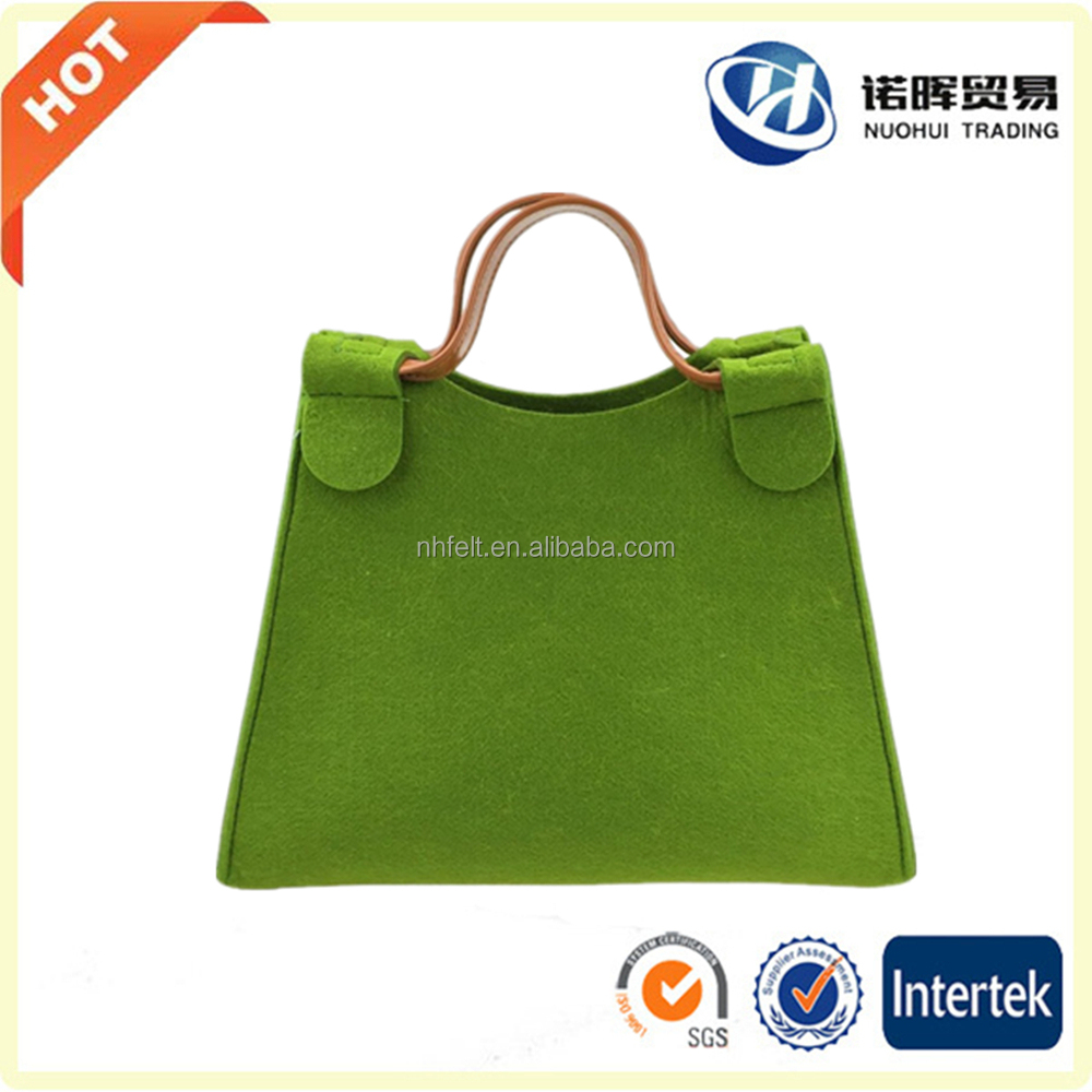 New design leisure felt tote cosmetic bag