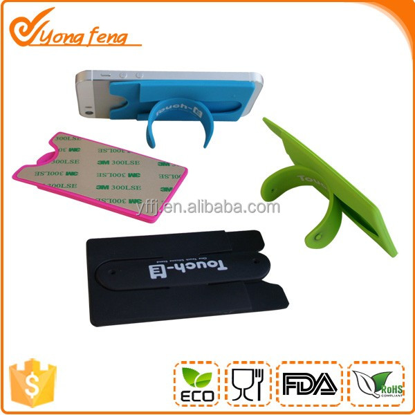 Creative wholesale silicone mobile phone display stand and card holder