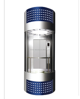 2014 SRH Observation Panoramic Passenger Elevator Lift with CE certificate EN81 fast opening door design
