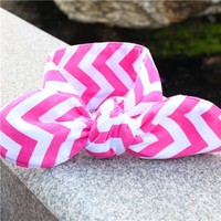 2015 Rabbit ear hair band Small circle dot hair hair accessories Wholesale children's rope string