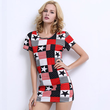 Womens T shirts Manufacturers China New Hot Sale Fashion Sexy Latest Dress Design Short Mini Dress