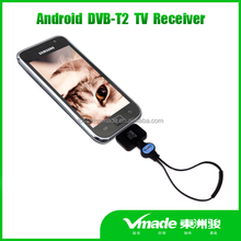 DVB-T2 cheapest android usb dongle DVB-T2 DVB-T TV Tuner Stick for Android Phones Micro USB