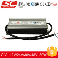 SC LED driver 12v 80w triac dimmable constant voltage power supply
