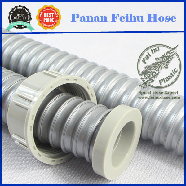 Plastic Flexible pipe fitting PVC double head flexible drain pipe