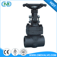 API A105 Threaded Small Ends Scoket Weld Bolted Bonnet Industrial Gate Valve with Price