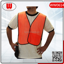 orange hunting mesh cheap safety vest