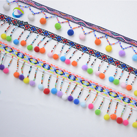 Colorful 100 Polyester Tassel Lace Pom