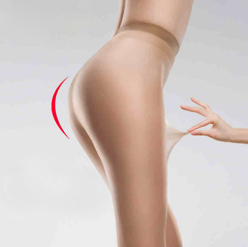 Fashionable sexy women transparent nylon feet tube pantyhose