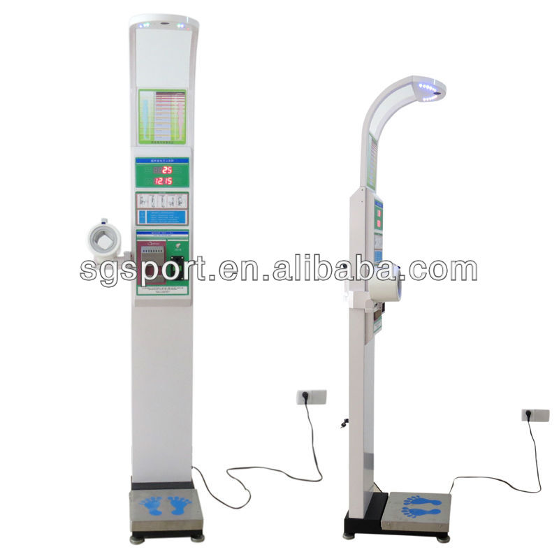 Coin-operated body height weight measuring machine with printing and blood pressure SGC15124 BMI machine