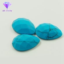 Loose pear cut turquoise stones for jewelry making