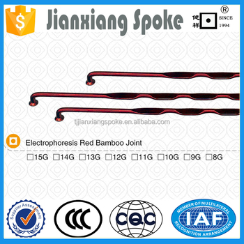 Bicycle spare part Electrophoresis Red Bamboo Joint 8g 9g 10g 11g 12g 13g 14g carbon stainless steel spoke and nipple for wheels