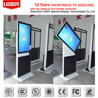 "42"" Rotated touch lcd panel full hd advertising display with digital totem 1000 nit lcd"