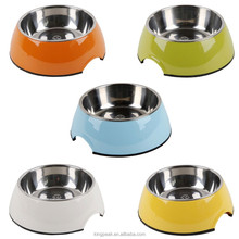 2015 Best Selling Stainless Steel Dog Food Bowl with Anti Slip Rubber Base and Easy Grip Handle/Stainless steel dog water bowl