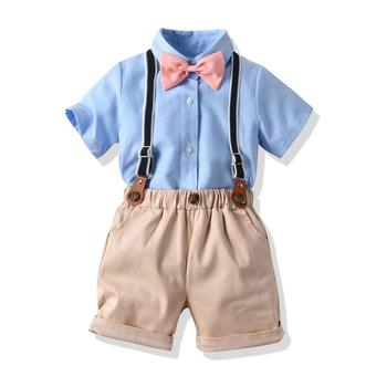 Boy Clothing Sets Summer Toddler Kids Boys Clothes Suit Shirt + Shorts Outfits Sets Child Clothing
