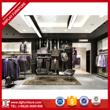 Hot-selling lighted wall mounted clothing store display shelves