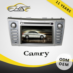 in dash 7 inch double din car DVD player built in navigation for Toyota camry