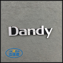 Simple Design Custom Name Metal Embossed Aluminum Label with Adhesive Sticker