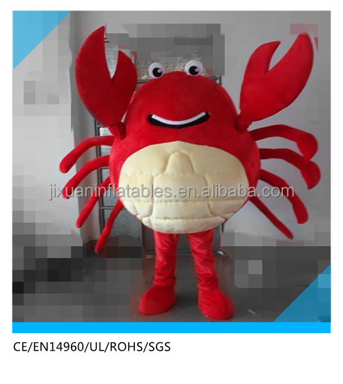 Hot sale cheap kids cartoon crab costume for adult