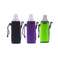 Promotional printing bottle sleeve customized beer bottle cooler sport bag with water bottle holder