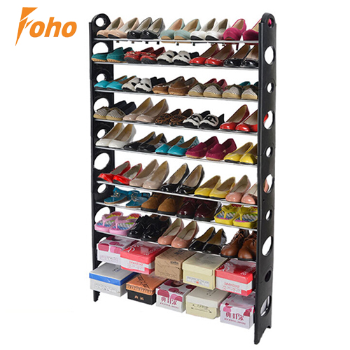 Large Room Shoe Rack Tower Storage Organizer, 50 Pairs of Shoes Holding Capacity FH-SR00611