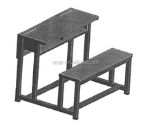 high quality school furniture factory manufacturing wooden desk with bench for YEMEN SCHOOL