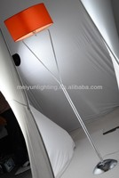 Orange torchiere floor lamp