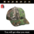 Wholesale custom 6 panel with 3d embroidery your own logo fishing camo led cap