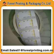 Blank Self Adhesive Label Sticker Paper Roll For Barcode Printing