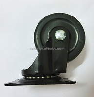 Heavy duty Double Ball Bearing Caster,Light duty PP furniture small caster wheel,Durable rubber swivel caster wheel