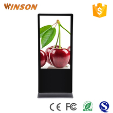 55 Inch Floor stand indoor infrared touch screen advertising machine