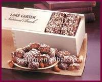 pine wood chocolate box slide lid mini chocolate truffle packaging boxes