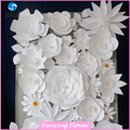 Ivory handmade wedding decoration wall magic tissue paper flowers