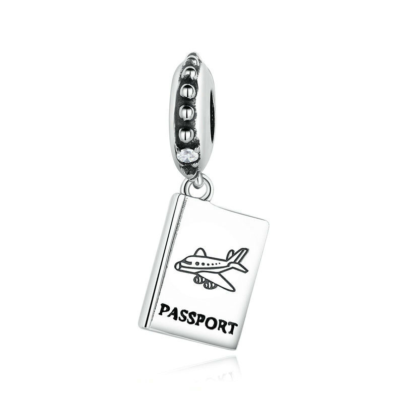 Klein Jewelry 925 Sterling Silver Passport Airplane Charm Fit Bracelet Travel Beads & Jewelry Making