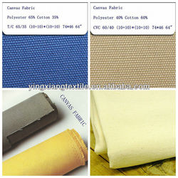 poly cotton waterproof fabric art canvas for uniform