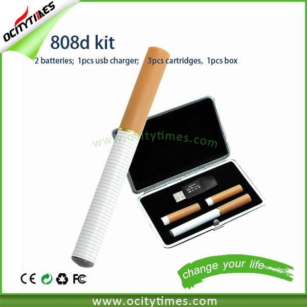 Import china products electronic cigarette atomizer blank cigarette packs 808D cartomizer kit