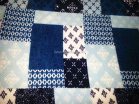 print blue fleece fabric for bedding/upholstery