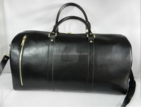 Top end high quality genuine leather golf travel bag