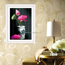 Diamond Painting Manufacturer Diamond Mosaic 3d Diy Abstract Beautiful Lotus Flowers Painting