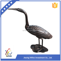 Exquisite decorative park cast aluminum cranes statue