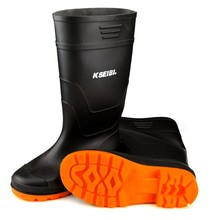 Black Rubber <strong>Safety</strong> Work/Rain Boots