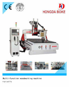 ATC WoodWorking CNC Router Machine (With Saw Blades and Gang Drills)