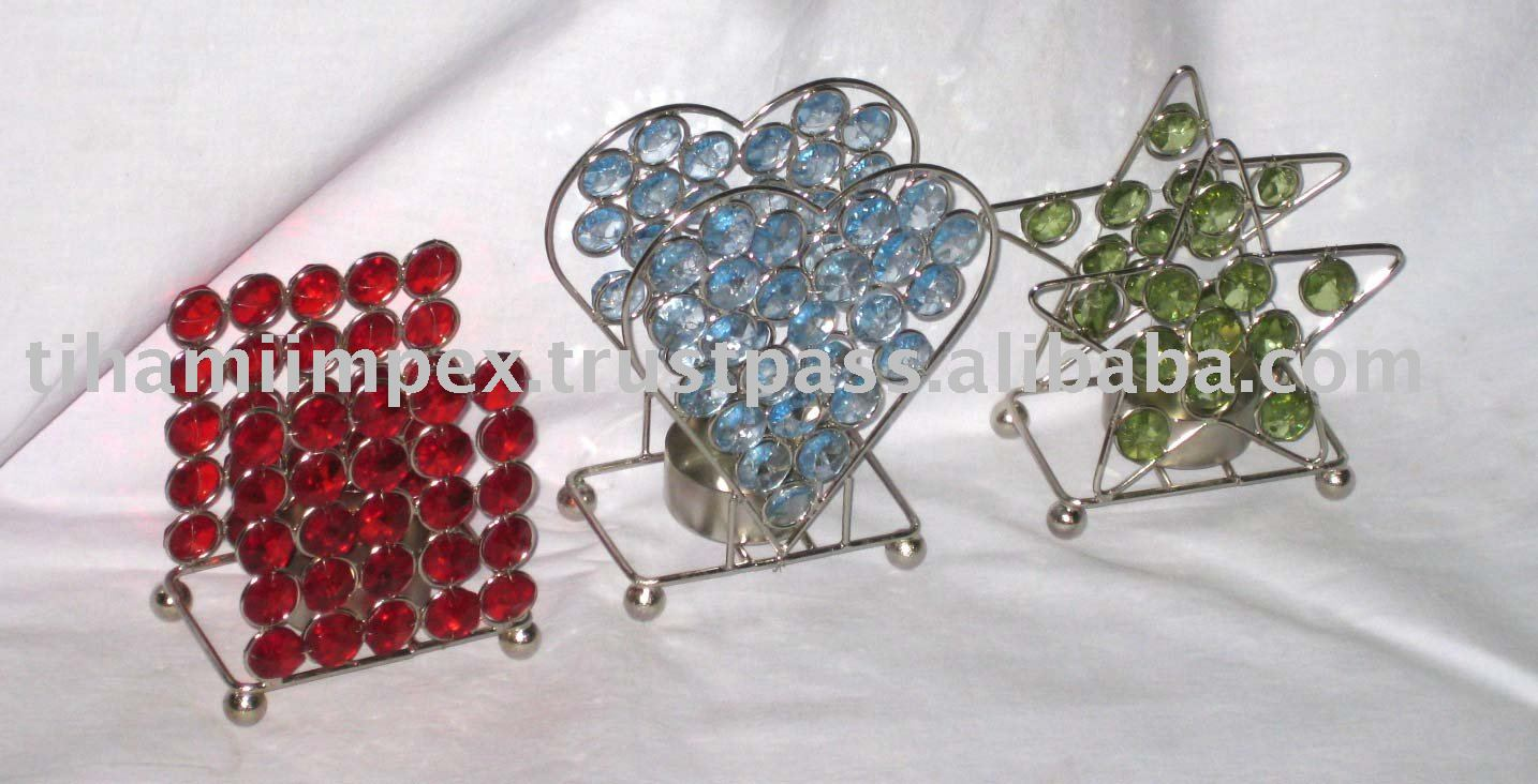 Crystal Tea Light Holder, Wedding Favors, Christmas T-Light Holder.