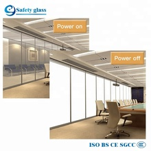 China factory privacy magic switchable electric PDLC film smart laminated glass price
