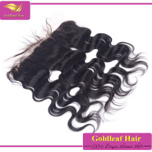 cheap lace front closure, black sliky straight indian human hair lace frontal piece 13*4 lace frontal with baby hair